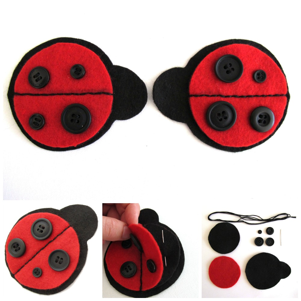 Ladybug Needle case Collage