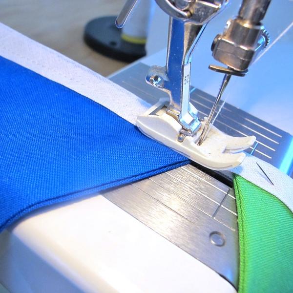 DIY Bunting Sewing Kit - Topstitching