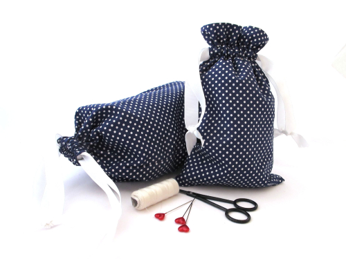 Drawstring Bag - Sewing Project Kit - Sew Your Own